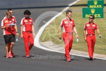 World © Octane Photographic Ltd. Scuderia Ferrari SF15-T– Sebastian Vettel. Thursday 23rd July 2015, F1 Hungarian GP track walk, Hungaroring, Hungary. Digital Ref: 1343CB7D7821