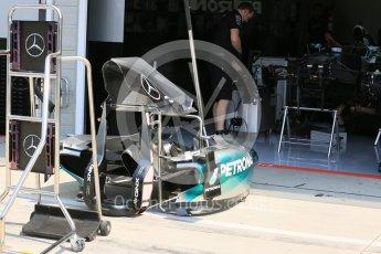 World © Octane Photographic Ltd. Mercedes AMG Petronas F1 W06 Hybrid. Thursday 23rd July 2015, F1 Hungarian GP Pitlane, Hungaroring, Hungary. Digital Ref: 1343LB5D0005