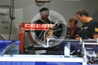 World © Octane Photographic Ltd. Scuderia Toro Rosso STR10. Thursday 23rd July 2015, F1 Hungarian GP Pitlane, Hungaroring, Hungary. Digital Ref: 1343LB5D0101