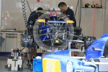 World © Octane Photographic Ltd. Sauber F1 Team C34-Ferrari – Felipe Nasr. Thursday 23rd July 2015, F1 Hungarian GP Pitlane, Hungaroring, Hungary. Digital Ref: 1343LB5D0157