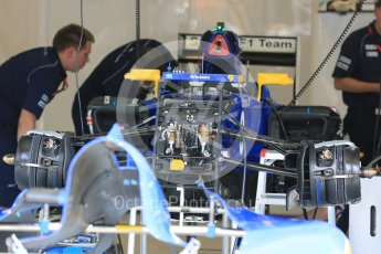 World © Octane Photographic Ltd. Sauber F1 Team C34-Ferrari – Marcus Ericsson. Thursday 23rd July 2015, F1 Hungarian GP Pitlane, Hungaroring, Hungary. Digital Ref: 1343LB5D0169