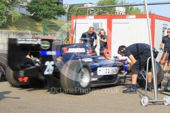 World © Octane Photographic Ltd. Friday 24th July 2015. Daiko Team Lazarus pitstop practice. GP2 Practice Session – Hungaroring, Hungary. Digital Ref. : 1347CB1L4662