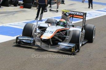 World © Octane Photographic Ltd. Friday 24th July 2015. Hilmer Motorsport – Sergio Canamasas. GP2 Practice Session – Hungaroring, Hungary. Spain. Digital Ref. : 1347CB1L5100