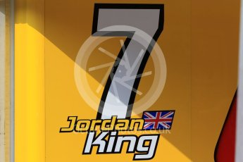 World © Octane Photographic Ltd. Friday 24th July 2015. Racing Engineering – Jordan King. GP2 Practice Session – Hungaroring, Hungary. Digital Ref. : 1347CB7D7881