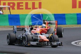 World © Octane Photographic Ltd. Friday 24th July 2015. Trident – Raffaele Marciello and Racing Engineering – Jordan King. GP2 Practice Session – Hungaroring, Hungary. Digital Ref. :