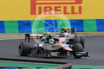 World © Octane Photographic Ltd. Friday 24th July 2015. Hilmer Motorsport – Sergio Canamasas. GP2 Practice Session – Hungaroring, Hungary. Spain. Digital Ref. :