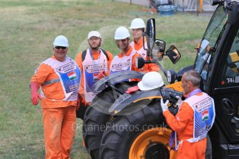 World © Octane Photographic Ltd. Saturday 25th July 2015. Turn 3 marshals. GP2 Race 1 – Hungaroring, Hungary. Digital Ref. : 1354CB1L6422