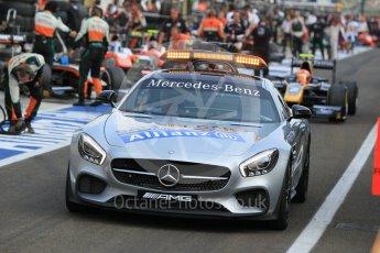World © Octane Photographic Ltd. Saturday 25th July 2015. Mercedes AMG GTs Safety car. GP2 Race 1 – Hungaroring, Hungary. Digital Ref. : 1354CB1L6531