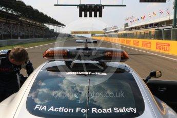 World © Octane Photographic Ltd. Saturday 25th July 2015. Mercedes AMG GTs Safety car. GP2 Race 1 – Hungaroring, Hungary. Digital Ref. : 1354CB7D8673
