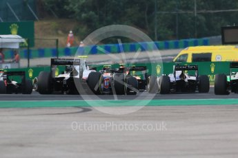 World © Octane Photographic Ltd. Saturday 25th July 2015. The pack heads out of turn 3. GP2 Race 1 – Hungaroring, Hungary. Digital Ref. : 1354CB7D8832