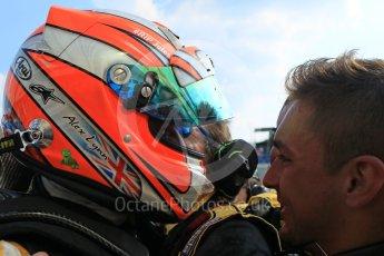World © Octane Photographic Ltd. Saturday 25th July 2015. DAMS – Alex Lynn (1st). GP2 Race 1 parc ferme – Hungaroring, Hungary. Digital Ref. : 1354LW1L6721