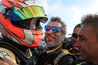 World © Octane Photographic Ltd. Saturday 25th July 2015. DAMS – Alex Lynn (1st). GP2 Race 1 parc ferme – Hungaroring, Hungary. Digital Ref. : 1354LW1L6726