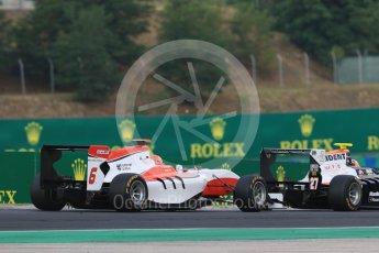 World © Octane Photographic Ltd. Saturday 25th July 2015. Trident – Luca Ghiotto  and ART Grand Prix – Esteban Ocon . GP3 Race 1 – Hungaroring, Hungary. Digital Ref. :