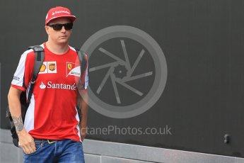 World © Octane Photographic Ltd. Scuderia Ferrari SF15-T– Kimi Raikkonen. Saturday 5th September 2015, F1 Italian GP Paddock, Monza, Italy. Digital Ref: 1409LB1D0555