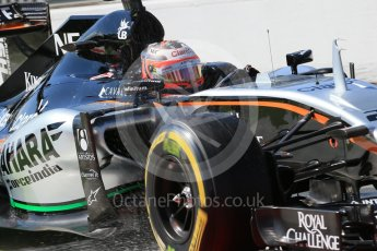 World © Octane Photographic Ltd. Sahara Force India VJM08B – Nico Hulkenberg. Saturday 5th September 2015, F1 Italian GP Practice 3, Monza, Italy. Digital Ref: 1411LB1D1250
