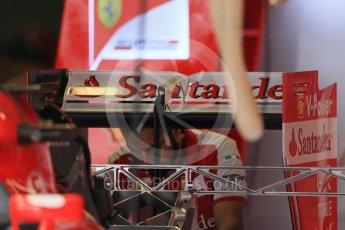World © Octane Photographic Ltd. Scuderia Ferrari SF15-T rear wing. Thursday 3rd September 2015, F1 Italian GP Paddock, Monza, Italy. Digital Ref: 1400LB1D8092