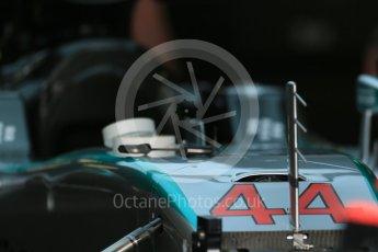 World © Octane Photographic Ltd. Mercedes AMG Petronas F1 W06 Hybrid – Lewis Hamilton. Thursday 3rd September 2015, F1 Italian GP Paddock, Monza, Italy. Digital Ref: 1400LB1D8118