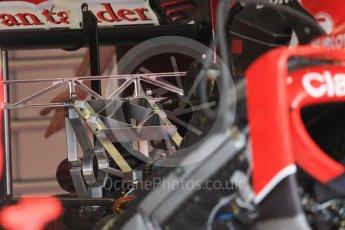 World © Octane Photographic Ltd. Scuderia Ferrari SF15-T rear suspension set up. Thursday 3rd September 2015, F1 Italian GP Paddock, Monza, Italy. Digital Ref: 1400LB1D8153