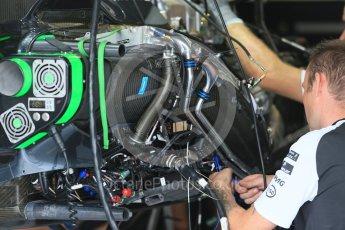 World © Octane Photographic Ltd. McLaren Honda MP4/30. Thursday 3rd September 2015, F1 Italian GP Paddock, Monza, Italy. Digital Ref: 1400LB1D8160