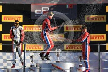 World © Octane Photographic Ltd. Saturday 5th September 2015. Arden International – Emil Bernstorff (1st), ART Grand Prix – Esteban Ocon (2nd) and Arden International – Kevin Ceccon. GP3 Race 1 - Monza, Italy. Digital Ref. : 1414LB1D1954