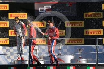 World © Octane Photographic Ltd. Saturday 5th September 2015. Arden International – Emil Bernstorff (1st), ART Grand Prix – Esteban Ocon (2nd) and Arden International – Kevin Ceccon. GP3 Race 1 - Monza, Italy. Digital Ref. : 1414LB1D1963