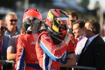 World © Octane Photographic Ltd. Saturday 5th September 2015. Arden International – Emil Bernstorff (1st) and Kevin Ceccon (3rd). GP3 Race 1 - Monza, Italy. Digital Ref. : 1414LB5D8981