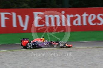 World © Octane Photographic Ltd. Infiniti Red Bull Racing RB11 – Daniel Ricciardo. Friday 4th September 2015, F1 Italian GP Practice 1, Monza, Italy. Digital Ref: 1405LB1D8777
