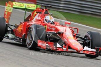 World © Octane Photographic Ltd. Scuderia Ferrari SF15-T– Sebastian Vettel. Friday 4th September 2015, F1 Italian GP Practice 1, Monza, Italy. Digital Ref: 1405LB7D5480