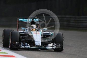 World © Octane Photographic Ltd. Mercedes AMG Petronas F1 W06 Hybrid – Lewis Hamilton. Friday 4th September 2015, F1 Italian GP Practice 1, Monza, Italy. Digital Ref: 1405LB7D5762