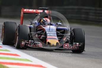 World © Octane Photographic Ltd. Scuderia Toro Rosso STR10 – Max Verstappen. Friday 4th September 2015, F1 Italian GP Practice 1, Monza, Italy. Digital Ref: 1405LB7D6056