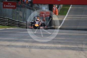 World © Octane Photographic Ltd. Infiniti Red Bull Racing RB11 – Daniel Ricciardo. Friday 4th September 2015, F1 Italian GP Practice 1, Monza, Italy. Digital Ref: 1405LB7D6285