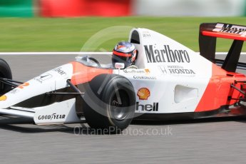 World © Octane Photographic Ltd. Sunday 27th September 2015, F1 Japanese Grand Prix, F1 Legends Demonstation Laps, Suzuka. McLaren Honda MP4/6 - Gerhard Berger. Digital Ref: