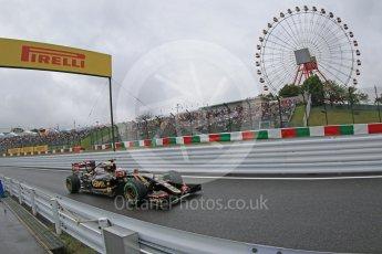 World © Octane Photographic Ltd. Lotus F1 Team E23 Hybrid – Romain Grosjean. Friday 25th September 2015, F1 Japanese Grand Prix, Practice 2, Suzuka. Digital Ref: