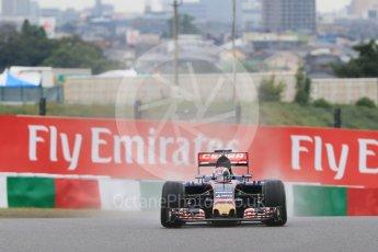 World © Octane Photographic Ltd. Scuderia Toro Rosso STR10 – Max Verstappen. Friday 25th September 2015, F1 Japanese Grand Prix, Practice 2, Suzuka. Digital Ref: