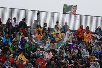 World © Octane Photographic Ltd. Jules Bianchi flag. Friday 25th September 2015, F1 Japanese Grand Prix, Practice 2, Suzuka. Digital Ref: