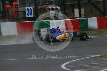 World © Octane Photographic Ltd. Sauber F1 Team C34-Ferrari – Felipe Nasr. Friday 25th September 2015, F1 Japanese Grand Prix, Practice 2, Suzuka. Digital Ref: