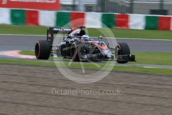 World © Octane Photographic Ltd. McLaren Honda MP4/30 – Fernando Alonso. Saturday 26th September 2015, F1 Japanese Grand Prix, Practice 3, Suzuka. Digital Ref:
