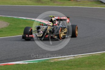 World © Octane Photographic Ltd. Lotus F1 Team E23 Hybrid – Pastor Maldonado. Saturday 26th September 2015, F1 Japanese Grand Prix, Qualifying, Suzuka. Digital Ref: