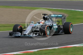 World © Octane Photographic Ltd. Mercedes AMG Petronas F1 W06 Hybrid – Lewis Hamilton. Saturday 26th September 2015, F1 Japanese Grand Prix, Qualifying, Suzuka. Digital Ref:
