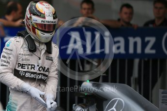 World © Octane Photographic Ltd. Mercedes AMG Petronas – Lewis Hamilton (2nd). Saturday 26th September 2015, F1 Japanese Grand Prix, Qualifying, Suzuka. Digital Ref: