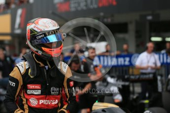 World © Octane Photographic Ltd. Lotus F1 Team E23 Hybrid – Romain Grosjean. Saturday 26th September 2015, F1 Japanese Grand Prix, Qualifying, Suzuka. Digital Ref: