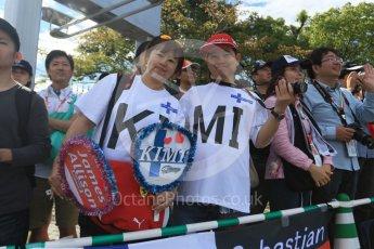World © Octane Photographic Ltd. The Japanese fans waiting at the paddock entrance. Saturday 26th September 2015, F1 Japanese Grand Prix, Paddock, Suzuka. Digital Ref: 1445CB7D6327