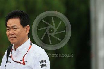 World © Octane Photographic Ltd. McLaren Honda - Yasuhisa Arai. Sunday 27th September 2015, F1 Japanese Grand Prix, Setup, Suzuka. Digital Ref: 1448LB1D3927