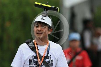 World © Octane Photographic Ltd. McLaren Honda - On Car Camera fans. Sunday 27th September 2015, F1 Japanese Grand Prix, Setup, Suzuka. Digital Ref: 1448LB1D4183