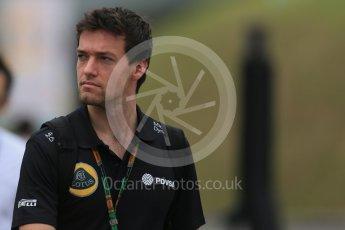 World © Octane Photographic Ltd. Lotus F1 Team Reserve Driver – Jolyon Palmer. Sunday 27th September 2015, F1 Japanese Grand Prix, Setup, Suzuka. Digital Ref: 1448LB1D4370