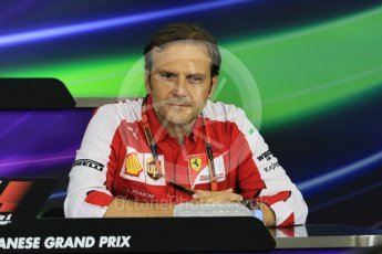 World © Octane Photographic Ltd. Team Personnel Press Conference. Friday 25th September 2015, F1 Japanese Grand Prix, Suzuka. Luigi Fraboni – Scuderia Ferrari Head of Engine Trackside operations. Digital Ref: 1444CB7D6206