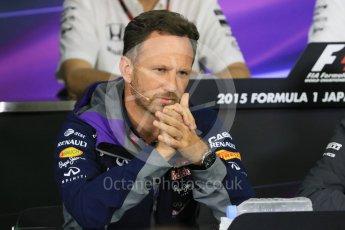 World © Octane Photographic Ltd. Team Personnel Press Conference. Friday 25th September 2015, F1 Japanese Grand Prix, Suzuka. Christian Horner – Infiniti Red Bull Racing team principle. Digital Ref: 1444CB7D6245