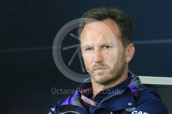 World © Octane Photographic Ltd. Team Personnel Press Conference. Friday 25th September 2015, F1 Japanese Grand Prix, Suzuka. Christian Horner – Infiniti Red Bull Racing team principle. Digital Ref: 1444LB1D1972