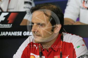 World © Octane Photographic Ltd. Team Personnel Press Conference. Friday 25th September 2015, F1 Japanese Grand Prix, Suzuka. Luigi Fraboni – Scuderia Ferrari Head of Engine Trackside operations. Digital Ref: 1444LB1D1988