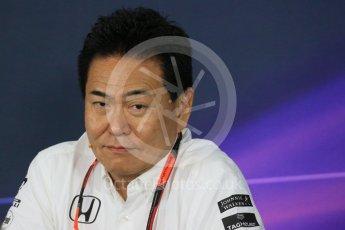 World © Octane Photographic Ltd. Team Personnel Press Conference. Friday 25th September 2015, F1 Japanese Grand Prix, Suzuka. Yasuhisa Arai - Honda Head of Motorsport. Digital Ref: 1444LB1D2077
